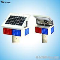 LED Solar traffic warning light