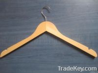 YG-01 clothes wooden hanger with bar/ wood hanger