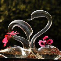 Glass Swan Sculpture