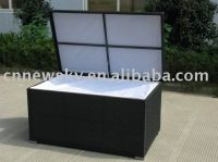 Patio rattan furniture knockdown storage box
