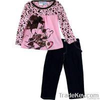 Cute Minnie clothes striped suit children clothes