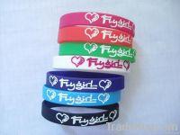 colourful silicone bracelet
