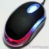 Factory wholesale OEM offered cheap computer mouse with colorful light