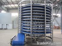 Spiral Cooling Conveyor used for Bread