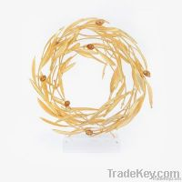 Gold Olive Wreath with Olives Ornament