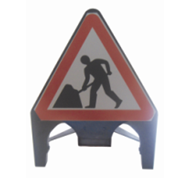 Plastic road sign