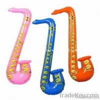 pvc inflatable music sax toys
