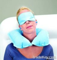 bestway blue inflatable travel pillow kits, inflatable neck pillow