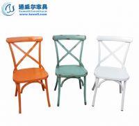 TW8022 Metal Cross Back Chairs