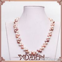 new design rice shape pearl necklaces jewelry for women