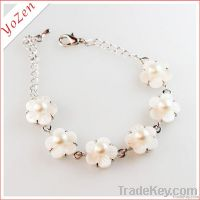 charming white freshwater pearl fashion bracelet 2013
