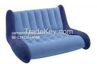 EN71 approval PVC inflatable flocking sofa chair
