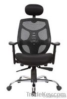 Black Mesh Fabric Adjustable Swivel Executive Office Chair with Pad H