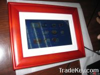 "Hot! 7"" Level-A panel, Wood Digital Photo Frames, Viedo/Music/Photos P"