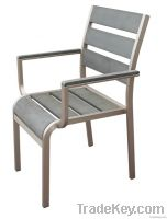 Outdoor furniture-polywood arm dining chair