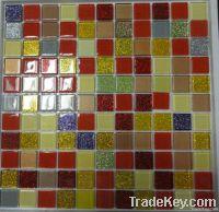 Iridescent glass mosaic