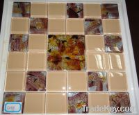 Hand_painted Glass Mosaic Tile