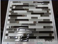 marble with glass mosaic tile