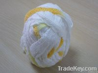 fishnet yarn with floral border for knitting