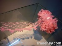 new type fancy yarn /pink mesh loop yarn for knitting