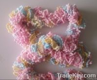 Polyester pingpong net yarn for knitting hot selling