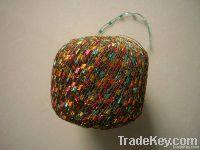fancy metallic ladder ribbon yarn for knitting , trimming