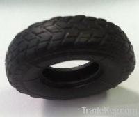 Rubber tire for toy armored vehicle
