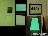 photoluminescent self luminous rigid sheets with luminescent pigment
