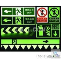 self luminous luminescent signs glow in the dark safety , exit sign