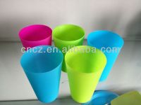 food grade PP plastic drinking middle size mugs
