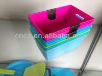 Mini plastic storage basket box