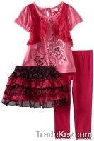 children clothing set, 2013 summer new style girls clothes, garment fa