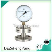 60mm flange connection diaphragm fuel pressure gauge