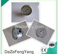 Black steel case hand vacuum pump pressure gauge
