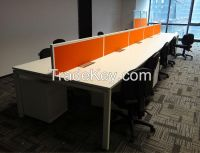 High quality 60*40*2T desking base office workstation, bench type office desk CTS series