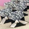 Ivory and Black Flourish wedding Favor Boxes