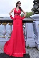 Sleeveless Stretchy Stain Evening Dress