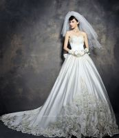 Luxurious Cathedral Train Wedding Dress