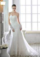 Simple Style Satin Sleeveless Wedding Dress