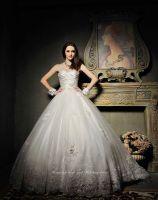 A-line Elegant Chapel Train Wedding Dress