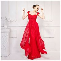 Lace Bridesmaid Dress Patterns Red Color