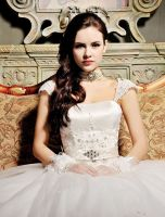 Quality Made Designer Capsleeve Lace Wedding Dress