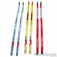 adults cross-country skis