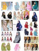 Double Layers Instant Hijab, Jilbab, Pashmina