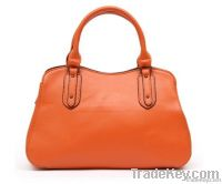 trend leather tote women handbags orange color