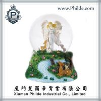Polyresin Forest Fairy Angel Water Snow Globe