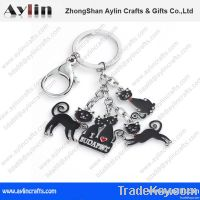 cat metal keychain for souvenir gift