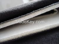 High Thick Bonded Polyester Velvet Sofa Fabric with 3 Layers