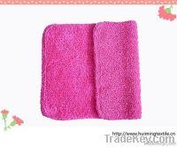 100%cotton double door mat, bath mat, rose color mat