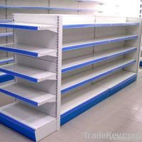 Hot sell supermarket shelf with double-side back panel